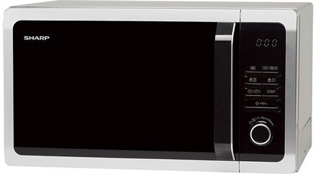 Микроволновая печь Sharp R-7852RSL (серебристая, 25л,гриль) - фото 7990